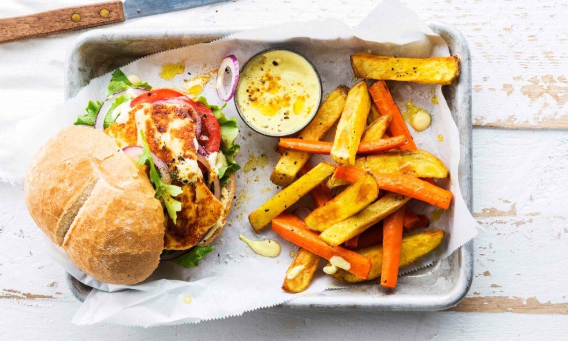 halloumi burger, foodbag, berloumi burger