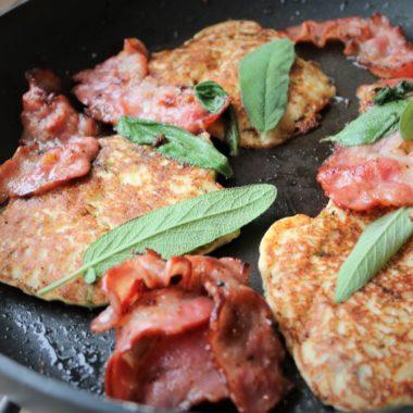 ricotta, pancakes, spruitjes